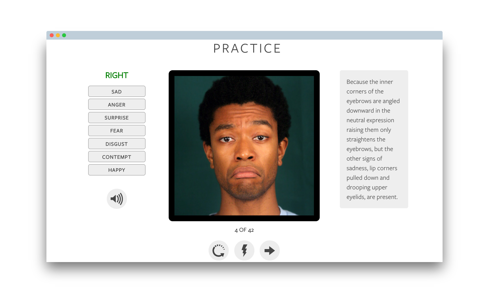 micro expressions training tool