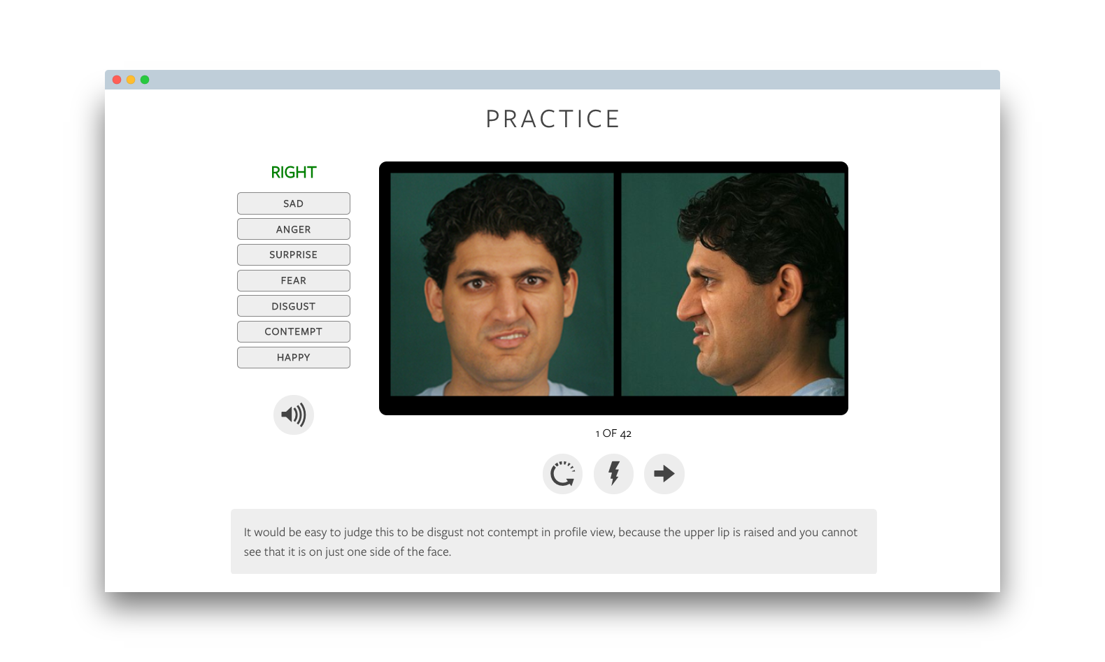 micro expressions profile training tool